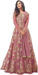 مجموعة من العباءة النسائية من RANGE OF INDIA فستان هندي هندي مزخرف بأوراق الشجر ذهبي