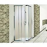 Box doccia angolare in cristallo 3 mm mod. vita Misure: Cm 68 - 80*80 - 92 trasp