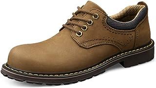أحذية عمل عصرية للرجال قابلة للتنفس من أوكسفورد أحذية جلدية منخفضة من الجلد السويدي قوي مانع للانزلاق مستدير الأصابع, كاكي...