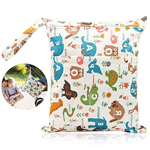 Bolsa de Pañales,Reutilizable Wetbag,Bolsa Pañales Impermeable,Bebé Prueba de Agua Bolsa de Pañales,Bolsa de pañales bebe de Maquillaje de Colgar (F)