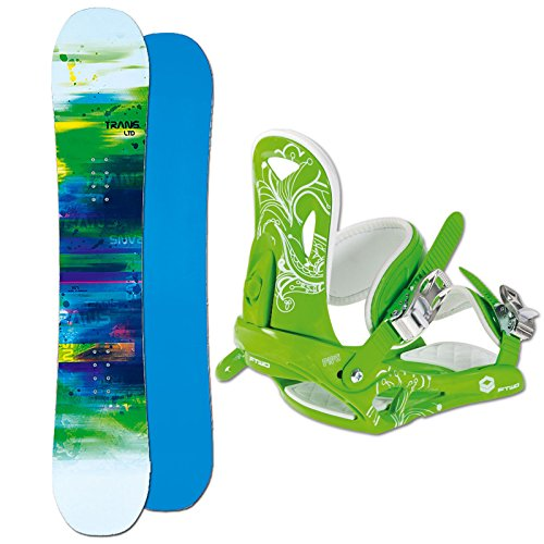 Unbekannt Herren Snowboard Set Trans LTD 147 cm + FTWO Pipe BINDUNG Green M ~ Vario Rocker