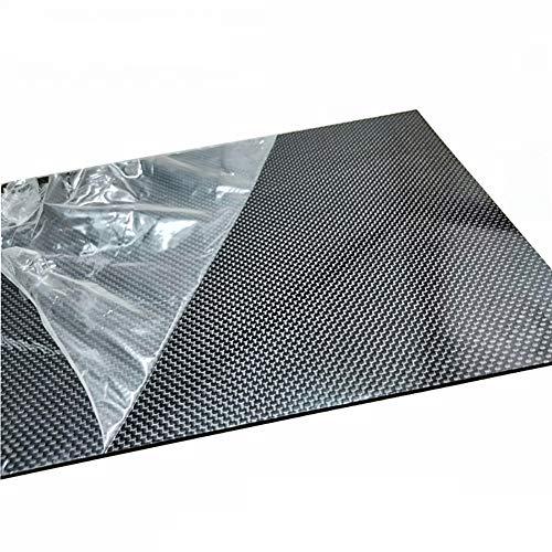 SOFIALXC Pannello in Fibra di Carbonio Materiale Composito di Durezza per Lavorazione CNC UAV RC (Twill, Superficie Lucida)-35cmx40cmx1.5mm