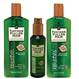 Thicker Fuller Hair Hair Solutions Revitalizing Shampoo, Weightless Conditioner and Instantly Thick Serum
