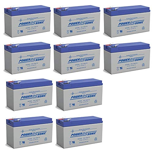 PS-1290 12 Volt 9 Amp Hour Rechargeable SLA Battery - PACK OF 10