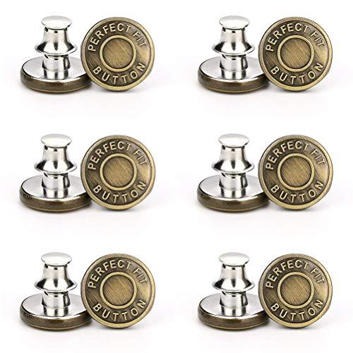 buycheapDG(JP) ボタン ジーンズ用 ジーンズボタン ブレザーボタン 差し込み式 メタルボタン 工具不要 袖口ボタン キンボタン 軽量 DIY 手芸材料 ハンドメイド 12セット(10番 銅)