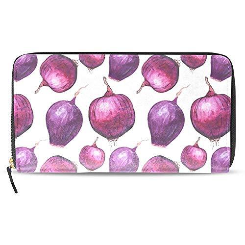 Leder Zip Around Kartenhalter Handtasche Clutch Bag Wallet Lange Kupplung Zwiebel-Kartenhalter Organizer, Pu Leder Reißverschluss Geldbörse Für Männer Frauen
