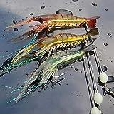 Fishing Lure 10CM 6G 3PCS Luminous Wlures Soft Lures Artificial Shrimp Hooks...