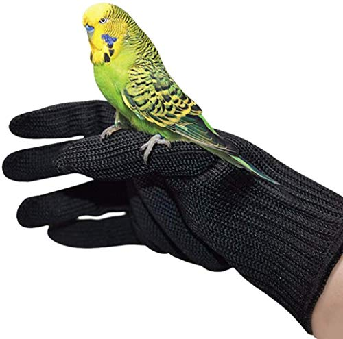 HFBlins Bird Training Anti-Bite Gloves, Small Animal Handling Gloves, Chewing Protective Gloves for Small Animal Pet Squirrels Hamster Parrotlets Cockatiels Finch Macaw (1 Pair)