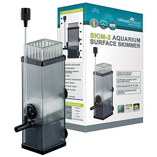 All Pond Solutions Aquarium Surface Skimmer - Tropical Marine Reef Fish Tank Water Internal Filter