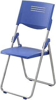 RONGJJ Silla Plegable Silla de Escritorio Oficina Azul Plástico Acolchado Personal Capacitación Silla de reunión Silla de Escritorio Sin apoyabrazos,