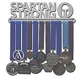 Allied Medal Hangers - Spartan Strong (12' Wide with 1 Hang bar) - Medal Hanger Holder Display Rack - Multiple