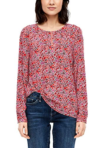 s.Oliver Damen 14.001.11.2840 Bluse, red floral AOP, (Herstellergröße: 40)