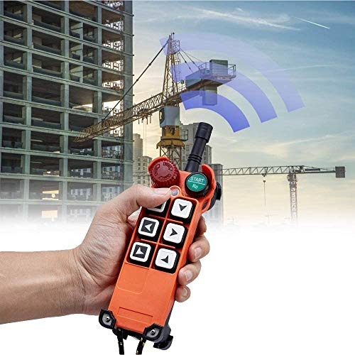 MXBAOHENG Industrielle Funkfernbedienung 24V Drahtlose Steuerung Hebekran Fernsteuerung F21-E1 für Industrie/Hebezeug/Kran/mit 1Sender &1 Empfänger (Unterstützung 18V-65V)