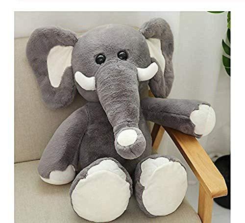 JIAL Juguetes de Peluche Peludo Suave Relleno Elefante mamut Lindo niños Juguete Almohada Regalo cumpleaños Creativo casero muñeca Gris 30 cm Chongxiang