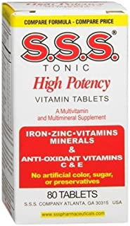 S. Tonic Vitamins & Minerals 80 Tablets