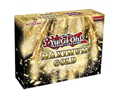 This holiday season, prepare to experience the unparalleled beauty and style with new Premium Gold Rares in Maximum Gold! Each box will include 4 Maximum Gold packs with 7 cards each: 2 Premium Gold Rares and 5 gold-letter Rares 52 Premium Gold Rares...