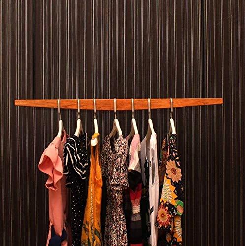 Grandes ganchos de abrigo, Montado en la pared de madera sólida barra de colgar tienda de ropa del estante de exhibición del colgante colgante colgantes Bastidores mujeres 's tienda de ropa estante de