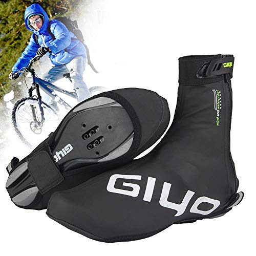 Cycling Shoe Covers, Reusable Cold-Proof Waterproof Bike Bicycle Warm Overshoes with Reflective Design for Men Women,Road Bike MTB Mountain Bike Cycling Accessories (XL)