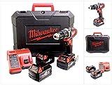 Milwaukee m18 bPD 403 c visseuse à percussion sans fil-batterie 18 v + 3 batteries de batterie 4 ah avec chargeur et coffret