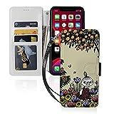Iphone11ケース 互換性のある 手帳型 財布型 ムーミン サイドマグネット式 カード収納 スタン……
