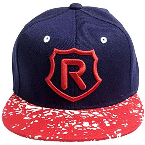 Belsen Hip-Hop R - Gorra de béisbol para niño Rojo Talla única