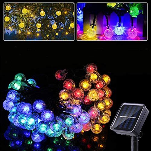 shuai Fairy Lights,6.5M Outdoor Solar Powered 30 LED Bulb String Light Garden Holiday Christmas Wedding lamp Festive Atmosphere (Color : Multicolor)