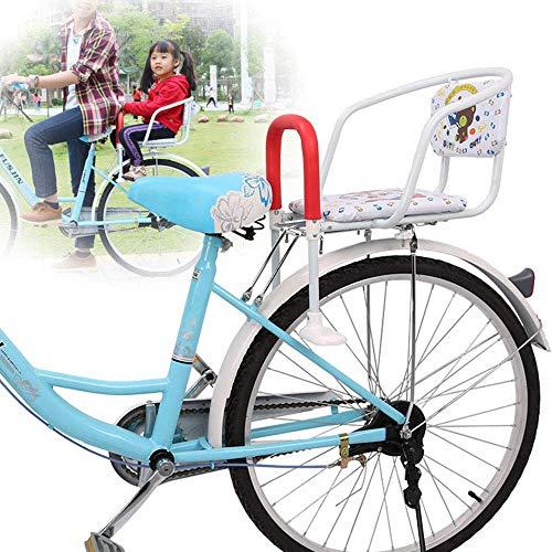 TB-Scooter Seggiolino per Bici per Bambini Seggiolino per Bicicletta per Montaggio Anteriore con bracciolo per guardrail e poggiapiedi 40 kg