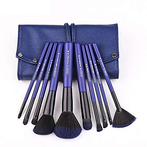 Les Pinceaux De Maquillage 10 Pcs Pinceau De Maquillage Set, Bleu Starry Les Pinceaux De Maquillage Ensemble Complet Débutant Outil Pinceau Brosses Professionnelle Blending Fard À Joues,Bleu