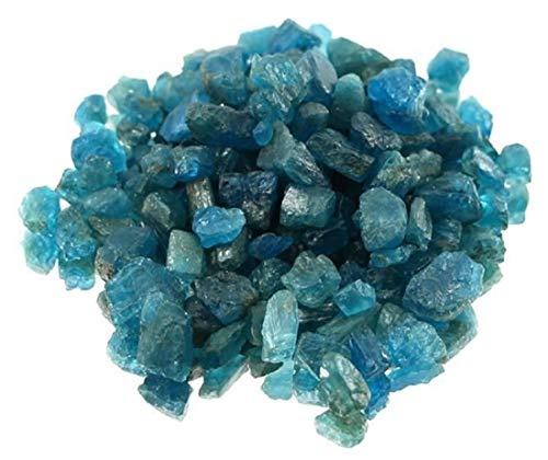 10 g Apatit Rohsteine Mini, Edelsteinqualität zum Schleifen oder Sammeln, A Qualität, Edelstein blau roh