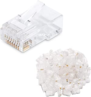 Cable Matters 100 Pack Cat 6 / Cat6 RJ45 Modular Plugs for Solid or Stranded UTP Cable / RJ45 Plugs