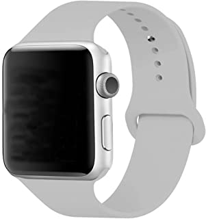 Sport Band for Apple Watch 38mm, Aimote Soft Silicone Replacement Strap for Apple Watch Series 3, Series 2, Series 1,Sport Edition, S/M Size,38mm Fog