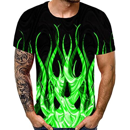SIOPEW Herren T-Shirt Tee Shirt Mode 3D Druckte Grafisches T Shirt Sommer Casual Kurzarm Basic Rundhals Kinderjugend T-Shirts Lose Fit Pullover Streetwear