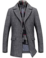 PRIJOUHE Men's Wool Coat Winte...