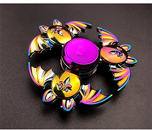 qwert Kids aldult Favors Alloy Metal Small Gadget Desk Toys Spinning Top Fingertip Gyro Stress Reliever,Bat