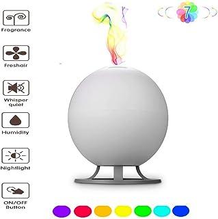 600ミリリットルエッセンシャルオイルディフューザー、超音波ディフューザーは自動的に赤ちゃんの部屋、家族、ヨガ、スパ、オフィスのための冷たいミスト加湿器、7色のLEDライトを閉じます