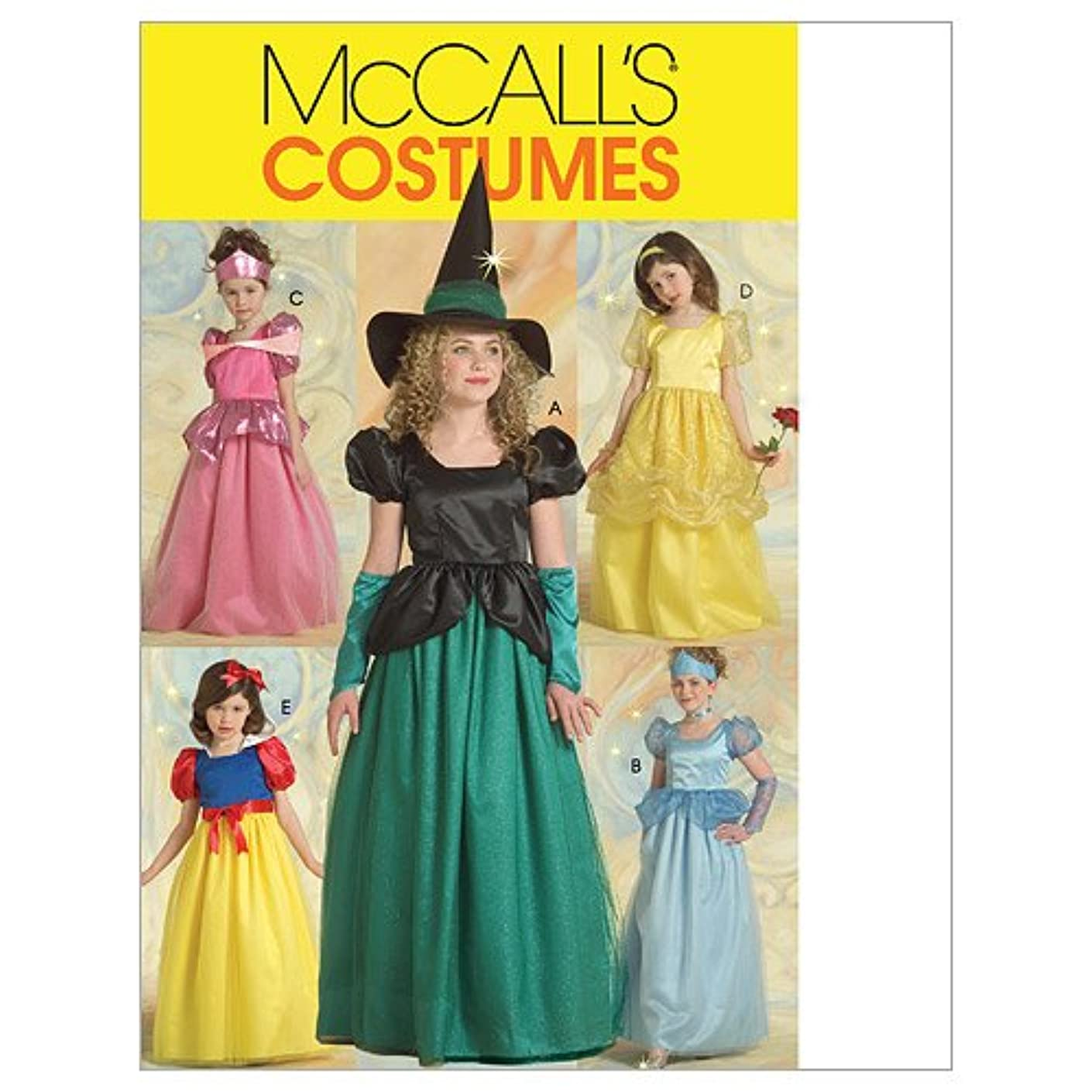 McCall's M5494 Girl's Witch and Princess Halloween Costume Sewing Patterns, Sizes 7-14