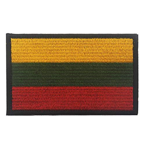 Aufnäher mit Litauen-Flagge, bestickt, zum Aufbügeln oder Aufnähen, mit Klettverschluss.