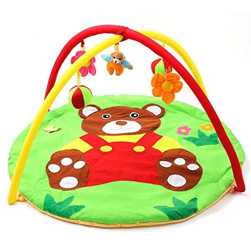 Huangjiahao - Alfombra de juegos para bebé, gimnasios, centro de actividades para recién nacido, verde, adecuada para bebés de 1 a 18 meses para bebés y niños pequeños y niñas y niños, algodón, Verde, 95x50CM