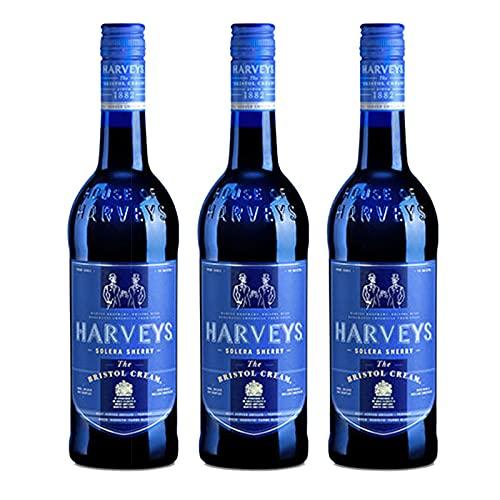 Vino Harveys Bristol Cream de 75 cl - D.O. Jerez-Sherry - Bardinet (Pack de 3 botellas)