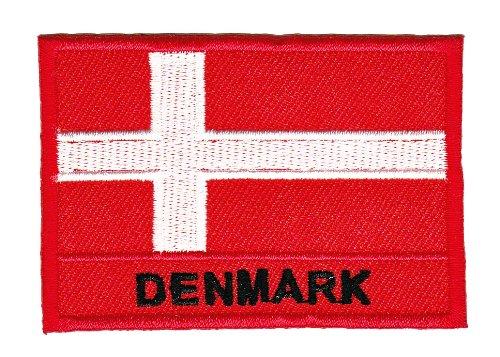 Aufnäher Bügelbild Aufbügler Iron on Patches Applikation Flagge Dänemark Denmark
