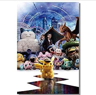 hfwh Pegatinas De Pared, Detective Pikachu, Vinilo Decorativo Grande, Juego De Pokémon, Papel Tapiz, Mural De Dibujos Animados, Christmas Sticker, 60x90cm