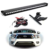 iJDMTOY Lower Grille Mount 30-Inch LED Light Bar Compatible With 2005-2015 Toyota Tacoma, Includes (1) 150W High Power CREE LED Lightbar, Bumper Opening Mount Brackets & On/Off Switch Wiring Kit