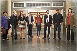 Bones David Boreanaz, Emily Deschanel and Cast Standing Together 8 x 10 inch photo