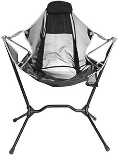 リクライニングチェア 揺り椅子 角度調整可能 屋外折りたたみ アウトドアチェア 超軽量 組立簡単【耐荷重250ポンド】 ハイバック コンパクト イス 椅子 収納袋付属 お釣り 登山 携帯便利 キャンプ