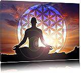 Meditierender Mensch Blume des Lebens Format: 120x80 auf