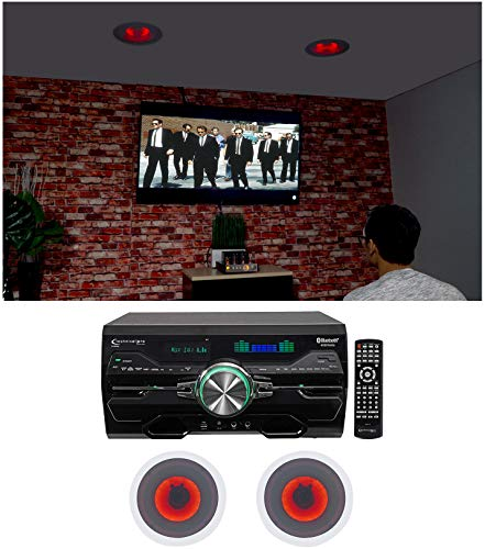Review Of Technical Pro DV4000 Home Theater DVD Receiver+(2) 8 Red LED Ceiling Speakers