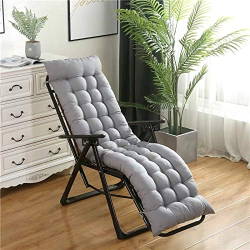 Colchonetas de sol silla, cubierta gruesa de color gris claro atractivo portátil de reemplazo de la personalidad terraza del jardín sillón de asiento, la cubierta superior antideslizante y 6 pares de