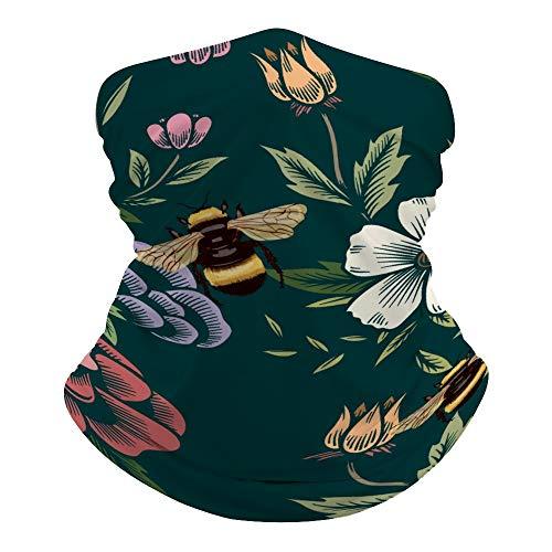 Promini - Máscara facial con diseño de mariposa, sin costuras, para la cabeza, para mujeres, hombres