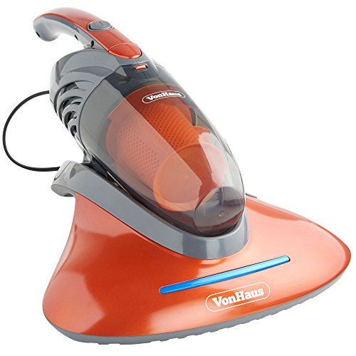 VonHaus Handheld Corded Vacuum Cleaner with UV Light - Anti-Allergenic Cleaner Kills 99.9 Percent of Bacteria and Dust Mites - 550W - Ideal for Upholstery, Mattresses, Pillows, Curtains, Sofas, Carpets and More - 2 in 1 Design includes Upholstery and Crevice Tool
