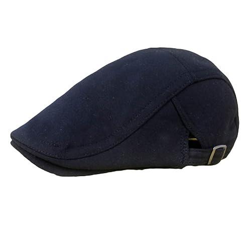 Leisial Hombre Mujer Sombreros Gorras Boinas Gorra de Béisbol Ocio Retro  Gorra de Deport Gorro Plano 102bb381edb